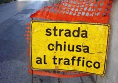 strada chiusa traffico