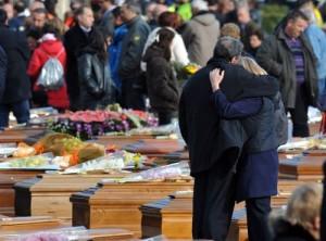 funerali vittime terremoto