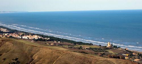 Panorama costa abruzzese