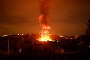 incendio discarica chieti