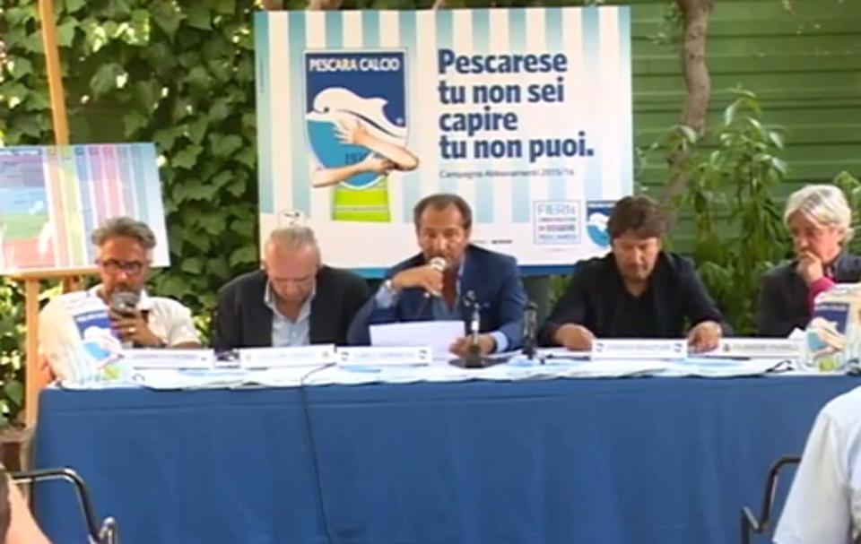 Presentata la nuova Campagna abbonamenti del Pescara