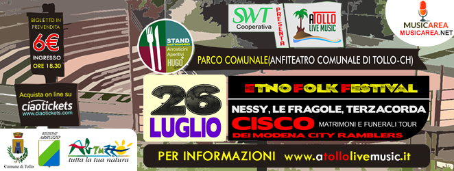 Domenica Cisco all' A-Tollo Music Festival