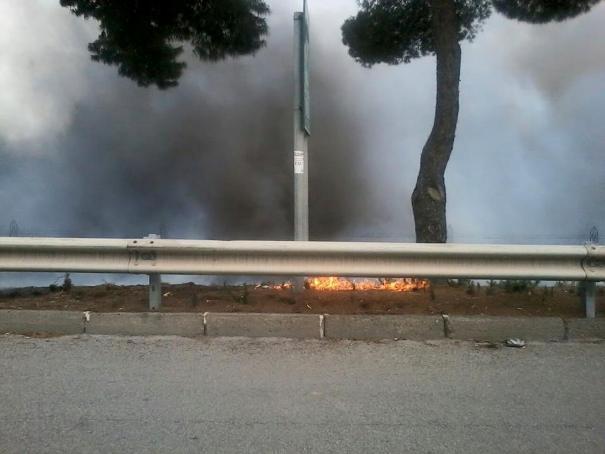 A/14: pullman albanese in fiamme tra Pescara e Ortona