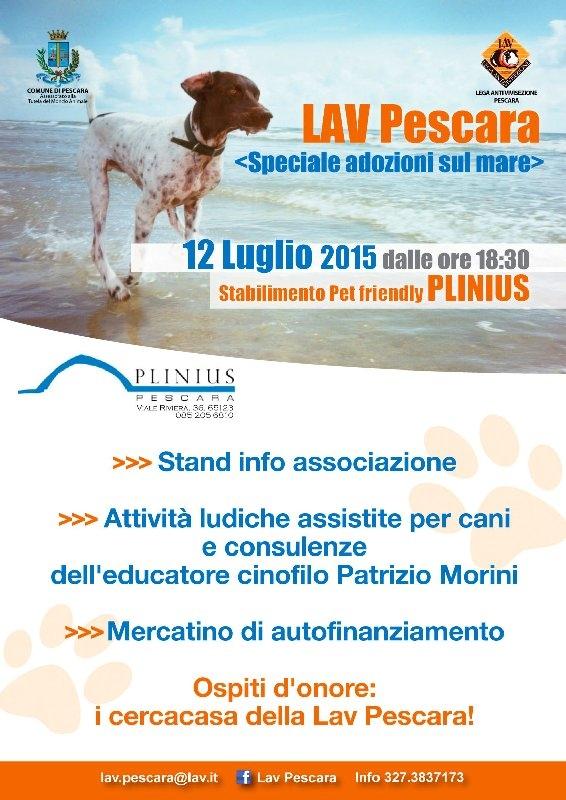 La Lav scende in spiaggia a Pescara