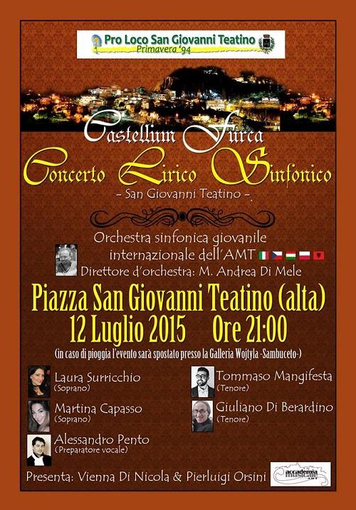 San Giovanni T.: Concerto lirico sinfonico in piazza