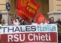 Chieti: Thales, presidio davanti al Comune