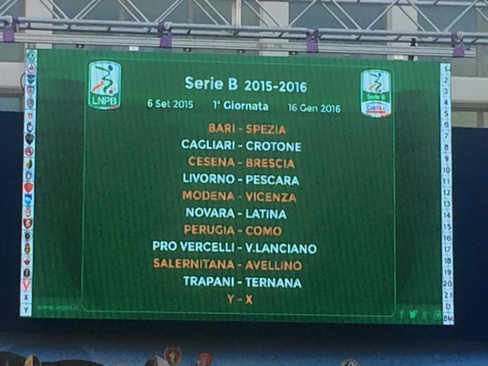 Calendari Serie B: Pescara Calcio, esordio in emergenza