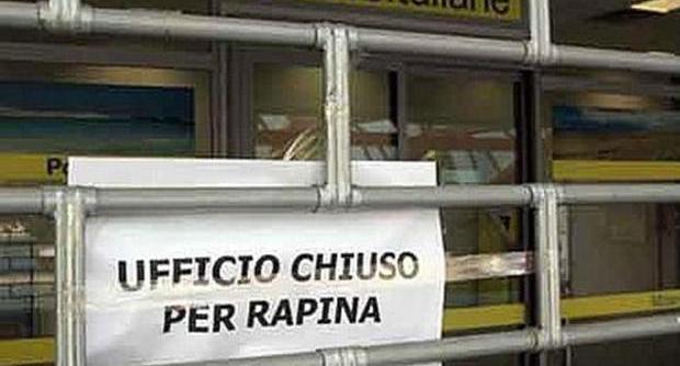 Pescara rapina alle Poste di Via Monte Faito
