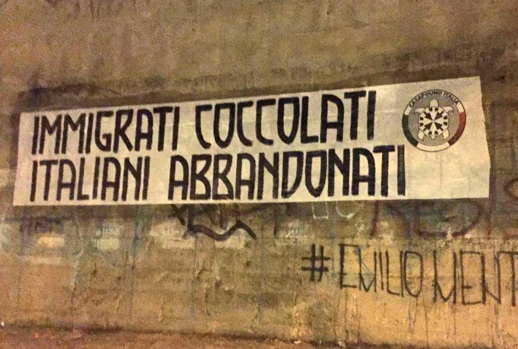 """Pescara, CasaPound: """"Immigrati coccolati, Italiani abbandonati"""""""