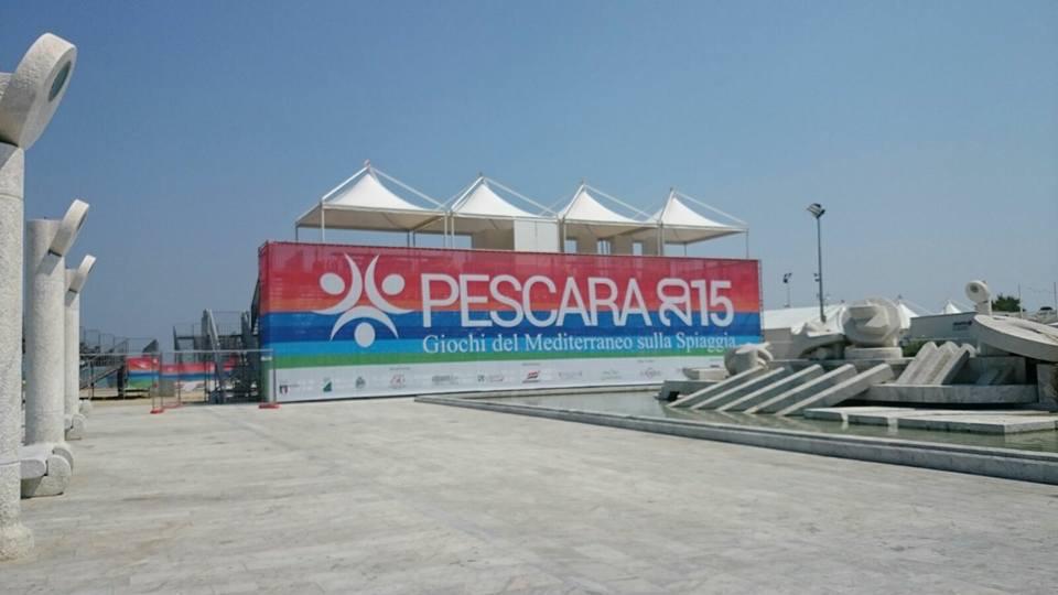 Pescara: strade chiuse Giochi del Mediterraneo sulla Spiaggia