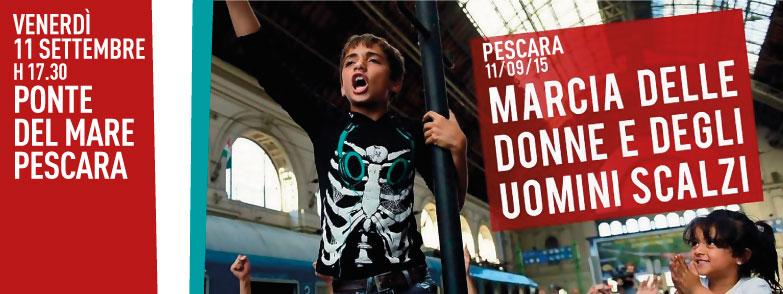 Pescara: Marcia a piedi scalzi per i migranti