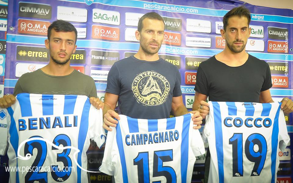 Pescara calcio. News allenamento
