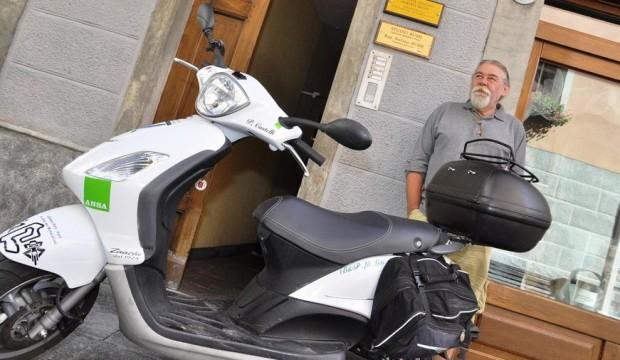 Fibrosi cistica, solidarietà in scooter