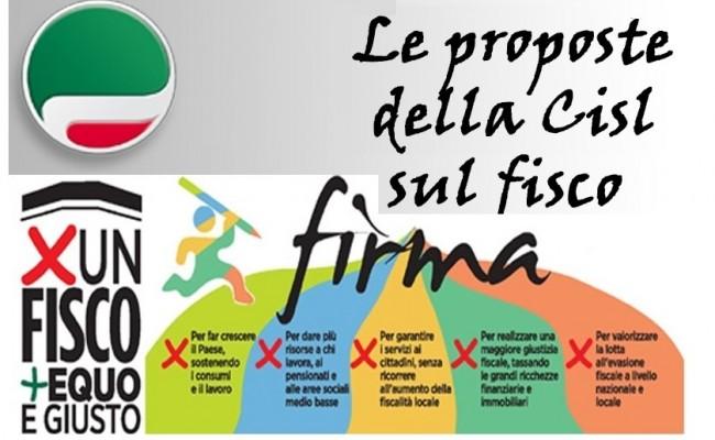 Fisco, 20 mila firme CISL