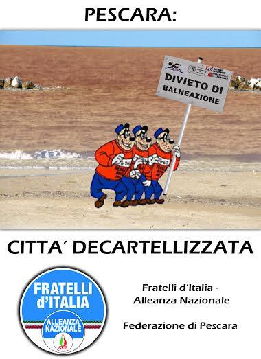 """Mare sporco, Pescara """"città decartellizzata"""""""