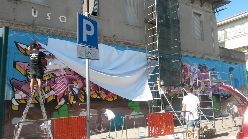 Pescara: murales all'Ex Fea