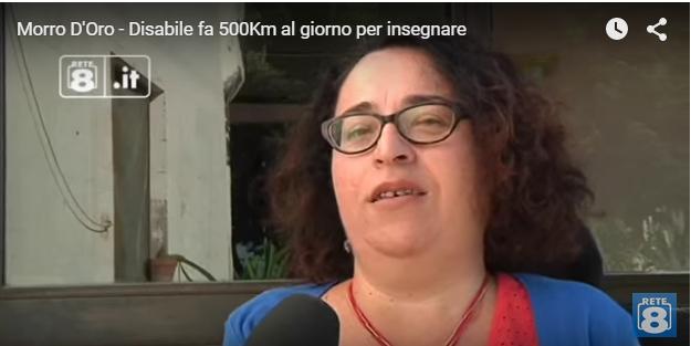 Disabile Morro d'Oro: 500 km al giorno per insegnare
