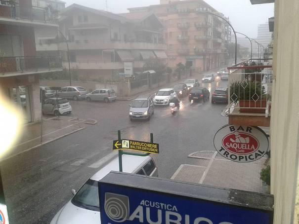Maltempo in Abruzzo, primi temporali e disagi