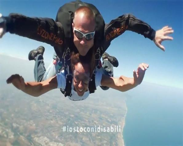 Malata di sclerosi in paracadute #iostoconidisabili