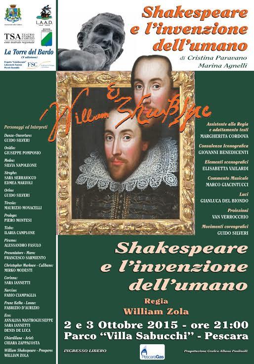 Pescara: Shakespeare e l'invenzione dell'Umano