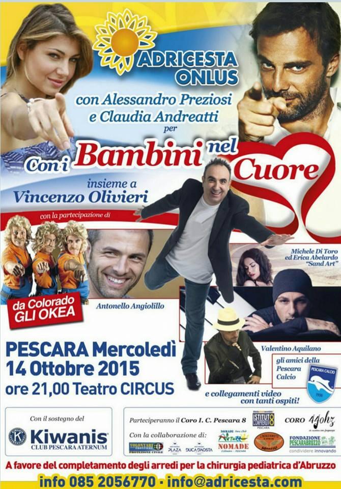 Adricesta Onlus: con i bambini nel cuore a Pescara