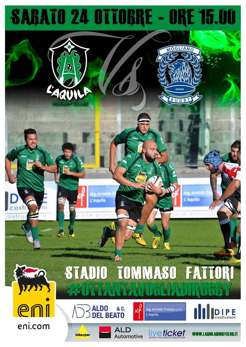 L'Aquila Rugby: al Fattori arriva il Mogliano