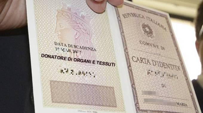Pescara, donatori in Carta d'Identità