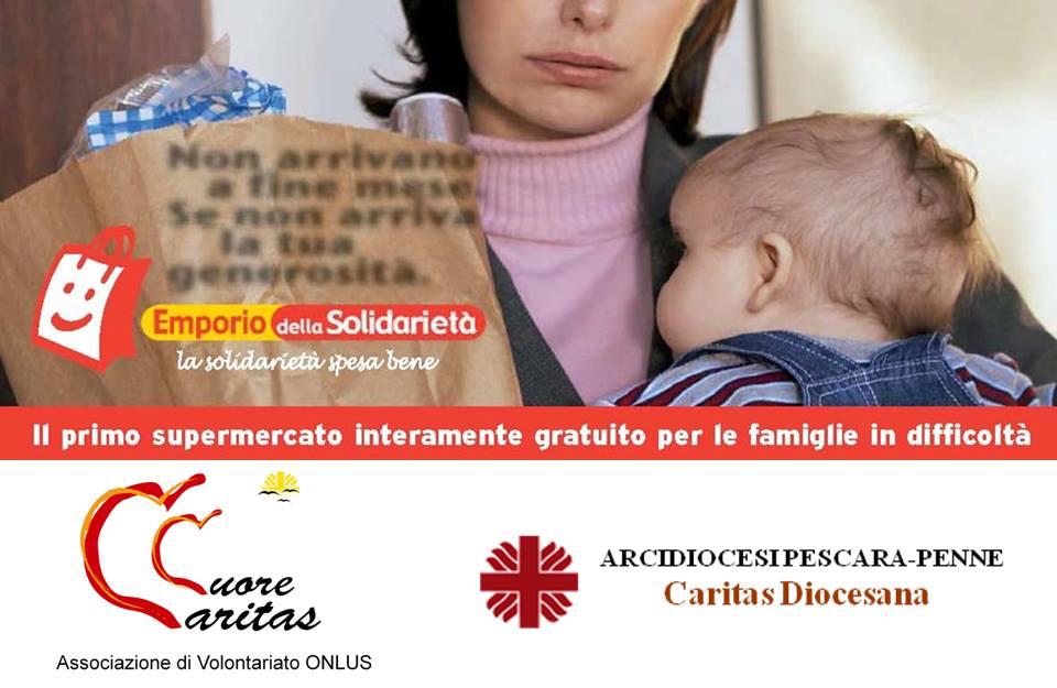 Pescara: raccolta alimentare per l'emporio della solidarietà