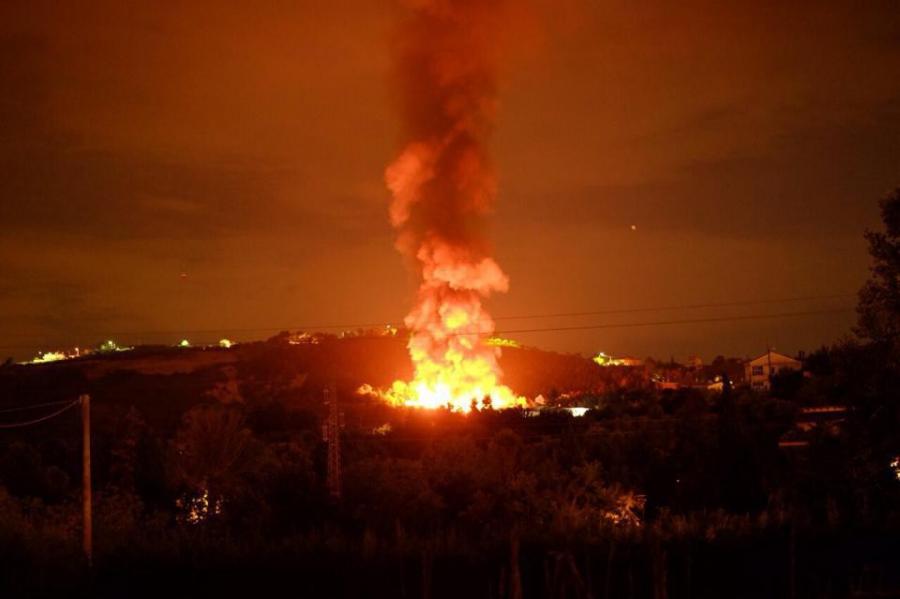 Incendio Discarica a Chieti: prodotti agricoli contaminati