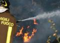 Incendio a Rosciano, intervenuti i Vigili del Fuoco