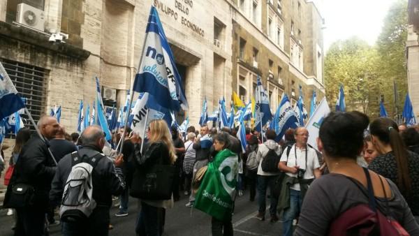 No Ombrina: Manifestazione di protesta a Roma