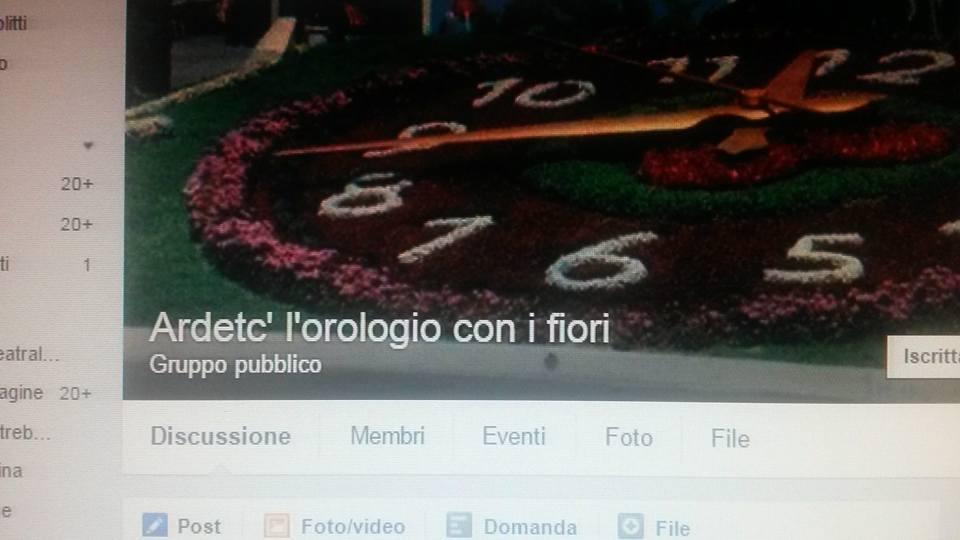 Pescara: Orologio con i Fiori, nasce gruppo su FB