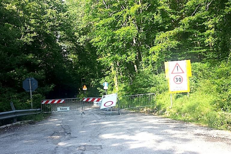 """Pizzoferrato, chiusa da due anni la """"strada del bosco"""""""