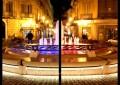 Attentati Parigi: Chieti, fontana dai colori bandiera Francia