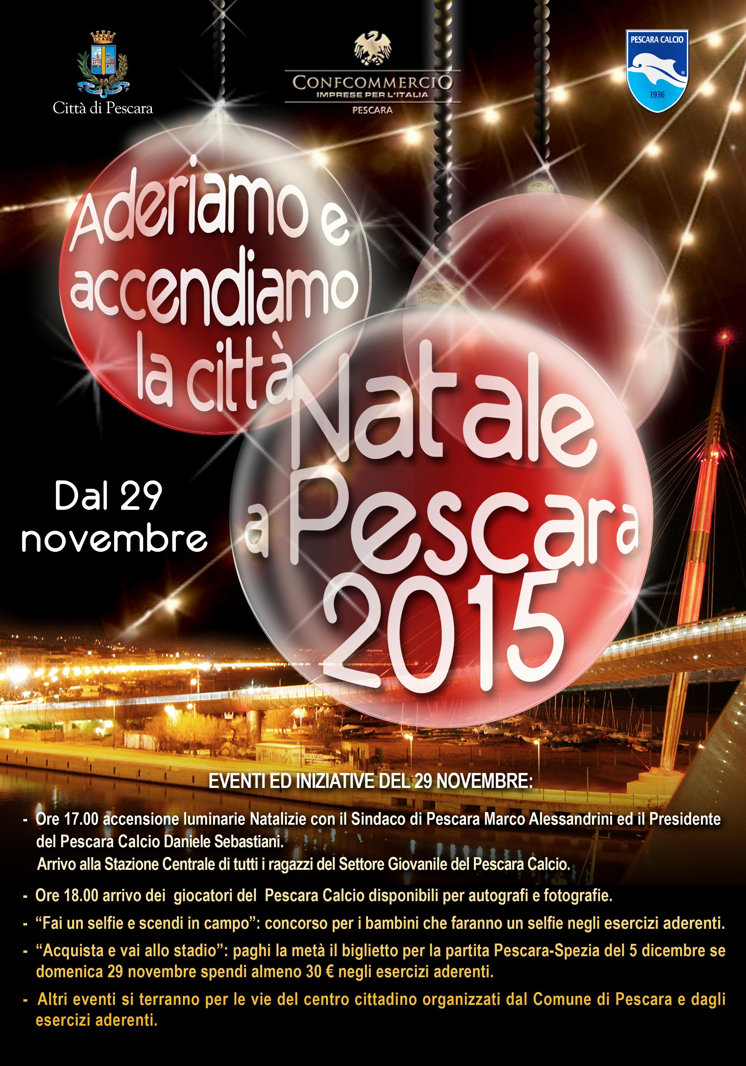 Ore 17 Pescara accende il 'suo' Natale