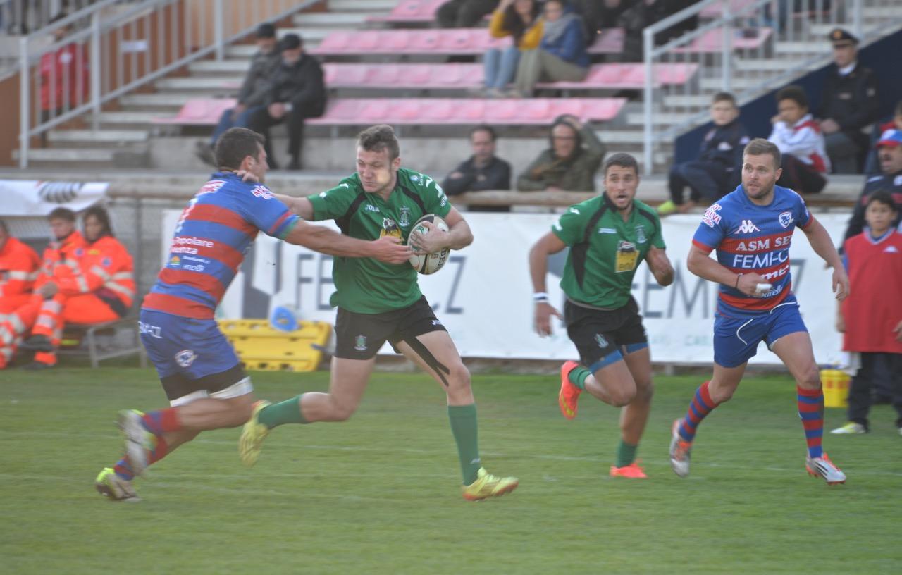 Rugby: troppo forte il Rovigo per L'Aquila