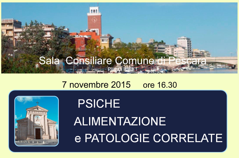 Domani convegno su psiche e alimentazione a Pescara