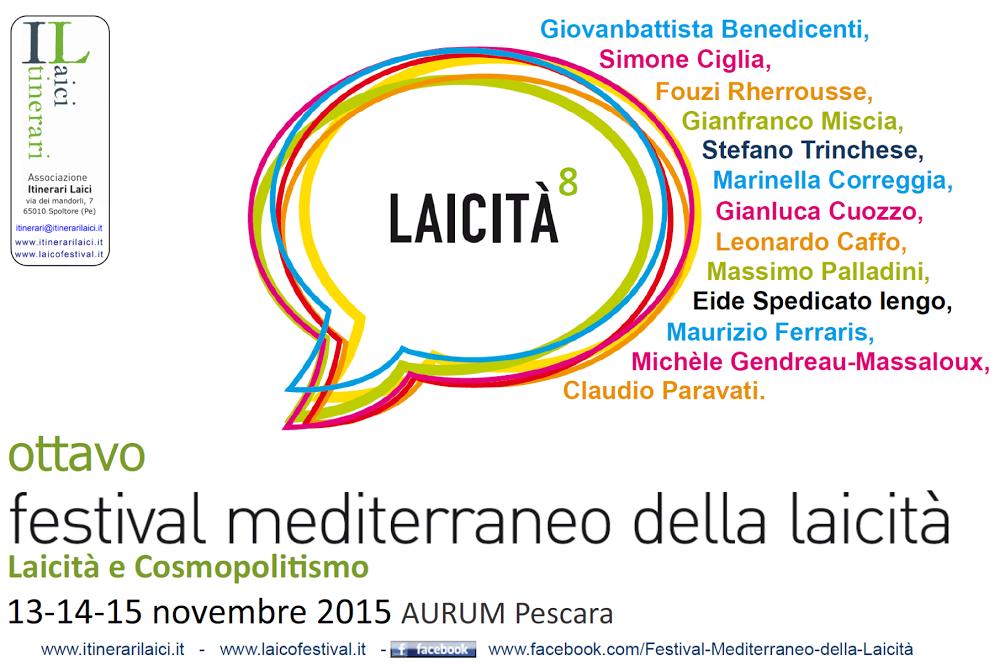 8° Festival mediterraneo della laicità a Pescara dal 13 al 15 novembre