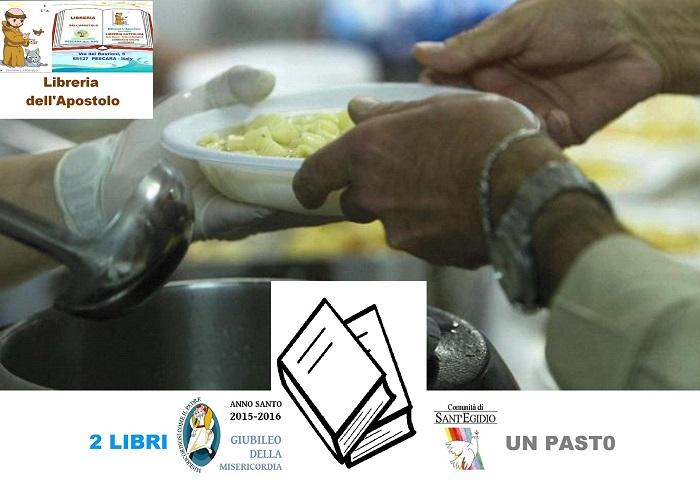 """Pescara: """"Due libri e un pasto"""" per chi è in difficoltà"""