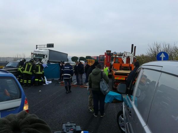 S.Giovanni Teatino: Pauroso incidente sull'Asse Attrezzato