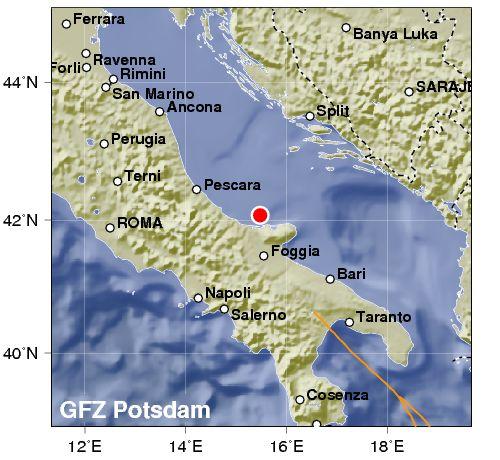 Terremoto: Scosse in mare nella zona delle trivellazioni
