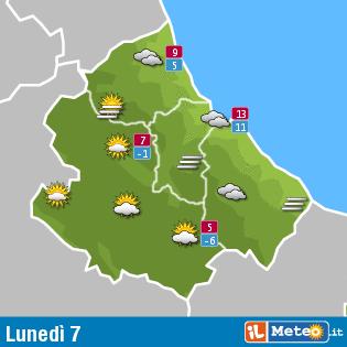 Previsioni Meteo Abruzzo 7 dicembre