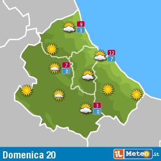Previsioni meteo Abruzzo 20 dicembre