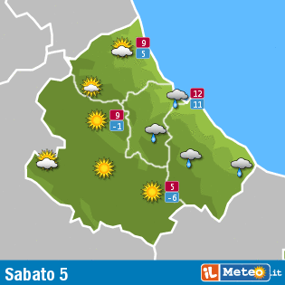 Previsioni meteo Abruzzo 5 dicembre