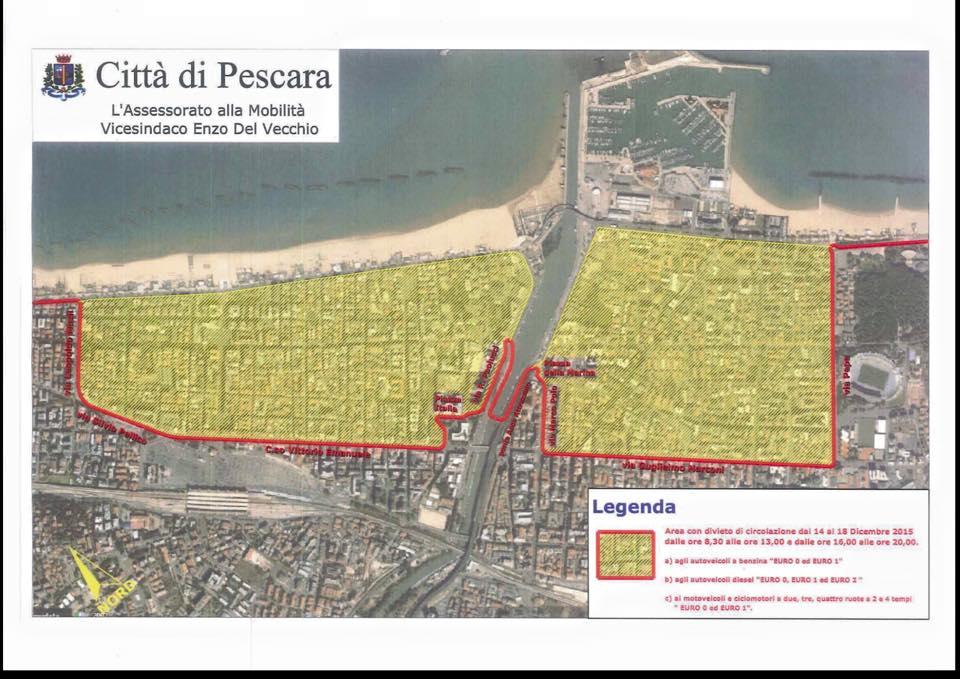 Allarme smog, a Pescara stop alle auto dal 14 al 18