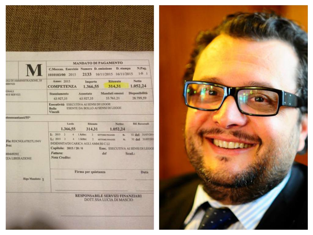Tollo: sindaco pubblica busta paga su Facebook