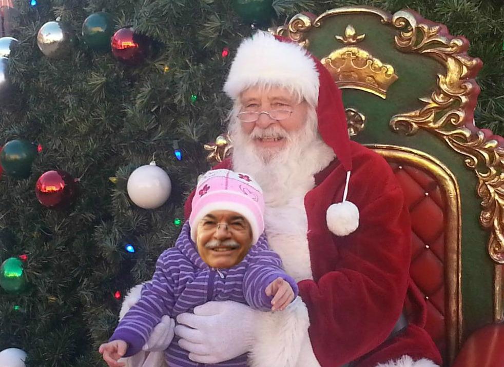 Politici abruzzesi, impazza fotomontaggio natalizio on line
