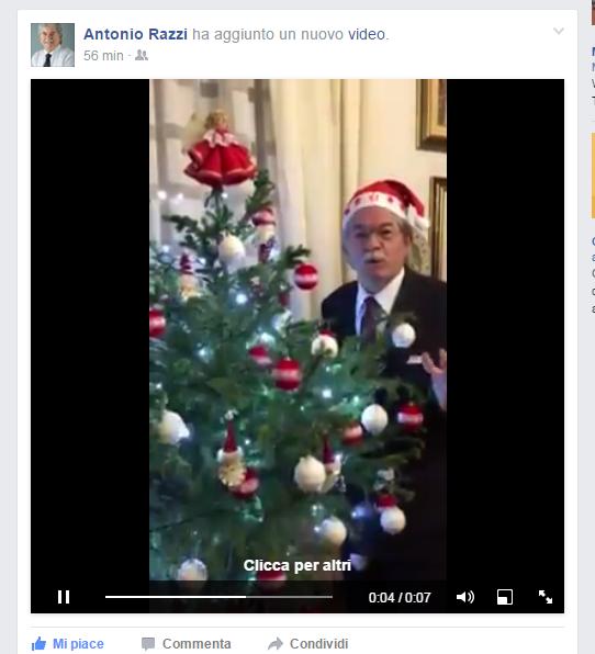 Gli auguri di Razzi-Babbo Natale (Video)