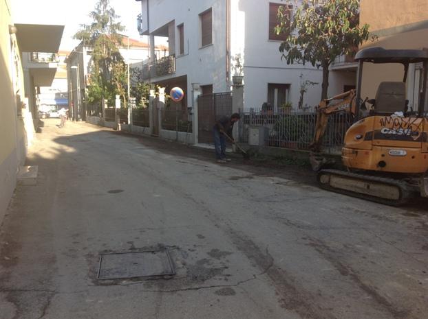 Montesilvano, cantiere anti-allagamenti in Via Lugano