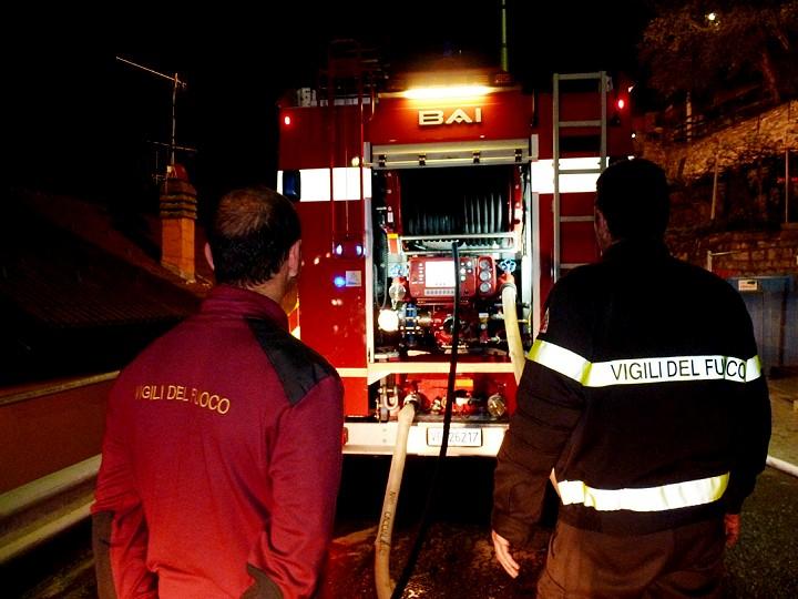 Bellante: casa a fuoco, coniugi intossicati